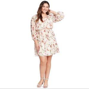 Adrianna Papell Floral Stem Dress